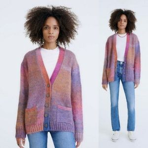 Re/Done 90s Oversized Cardigan Sweater Spacedye XS